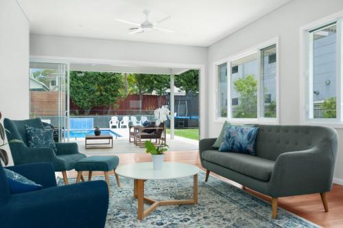 merewether renovation living room