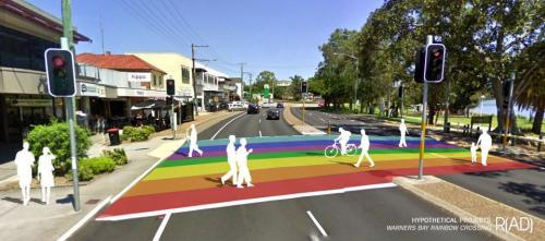 Warners Bay Rainbow Crossing
